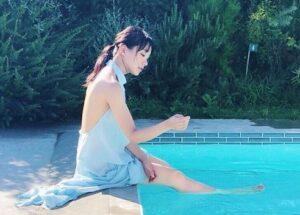 奈緒 カップ 水着 キャミソール